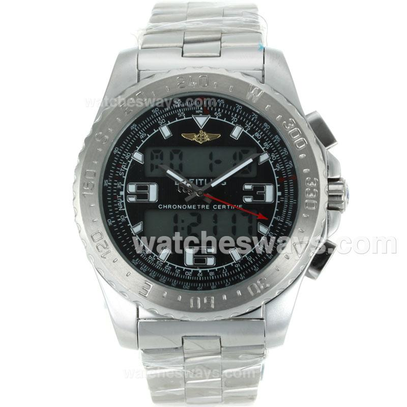 Replik Breitling Emergency Uhr Digital Displayer Mit Schwarzem Zifferblatt S / S-1 116840