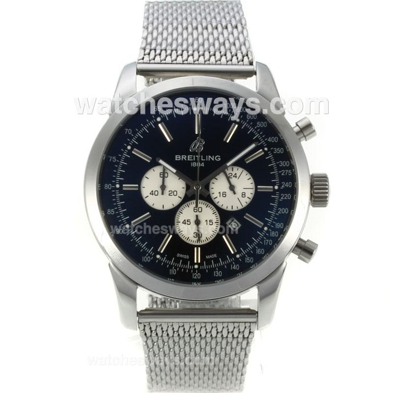 Repliki Breitling Transocean Working Chronograph with Black Dial S/S-1 126094