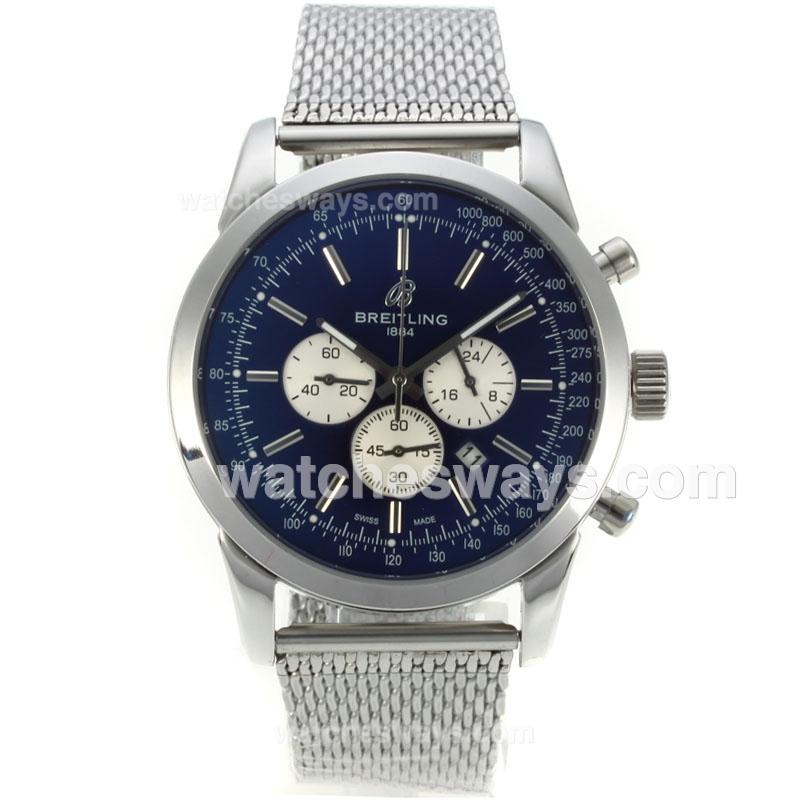 Repliki Breitling Transocean Working Chronograph with Blue Dial S/S 126092