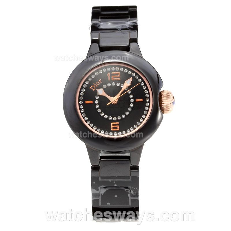 Repliki Christian Dior Full PVD with Black Dial 203348