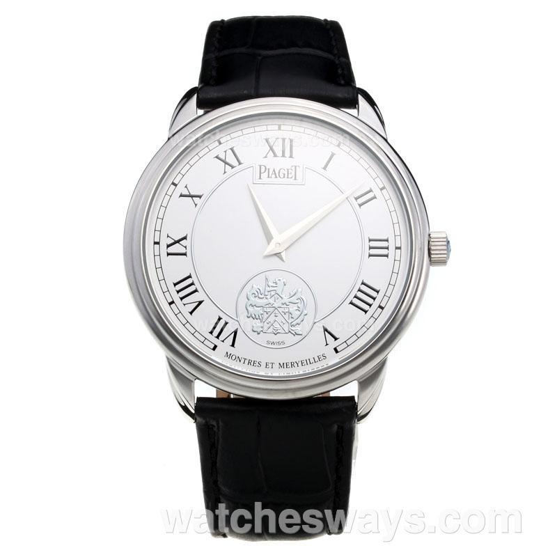 Repliki Piaget Altiplano with White Dial-Leather Strap 215884