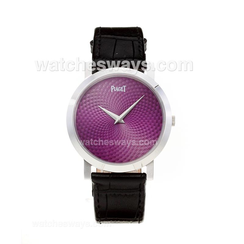 Repliki Piaget Altiplano with Purple Dial-Leather Strap 211540
