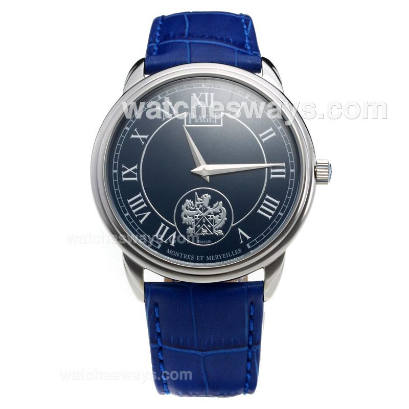 Repliki Piaget Altiplano with Blue Dial-Leather Strap 215864