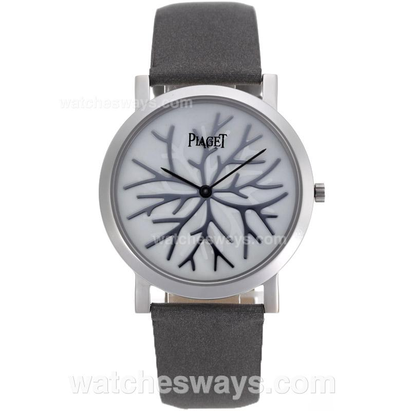 Repliki Piaget Altiplano Silver Case with MOP Dial Leather Strap 81733