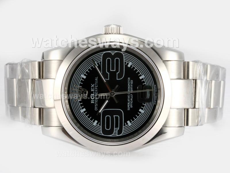Repliki Rolex Air-King Oyster Perpetual Automatic with Black Dial 2 16201