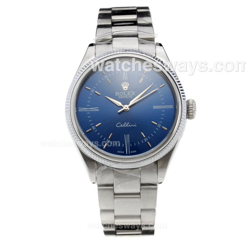 Repliki Rolex Cellini Automatic with Blue Dial S/S-2 219354