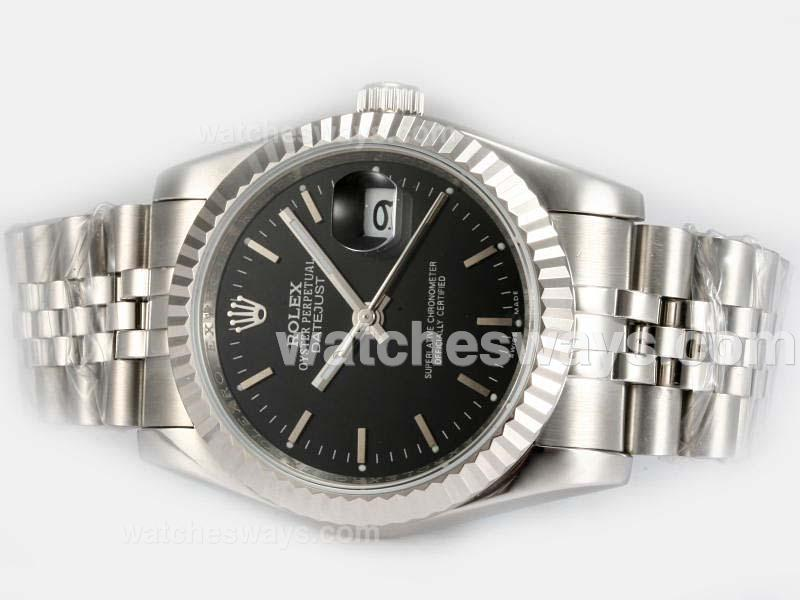 Repliki Rolex Datejust Automatic with Black Dial 4 18148