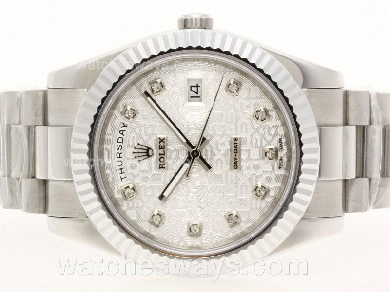 Repliki Rolex Day-Date II Automatic Diamond Marking with Computer Dial 41mm Version 38306