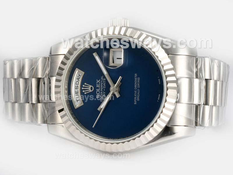 Repliki Rolex Day-Date Automatic with Blue Dial 18926