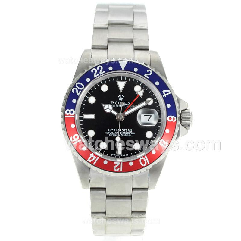 replik rolex gmt master ii uhr automatische rot mit blauen. Black Bedroom Furniture Sets. Home Design Ideas