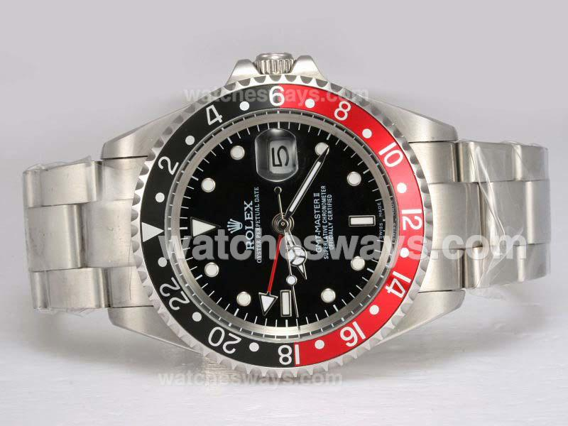 replik rolex gmt master ii uhr automatische rot mit. Black Bedroom Furniture Sets. Home Design Ideas