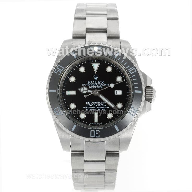 Repliki Rolex Sea Dweller Automatic Ceramic Bezel with Black Dial S/S-1 114876