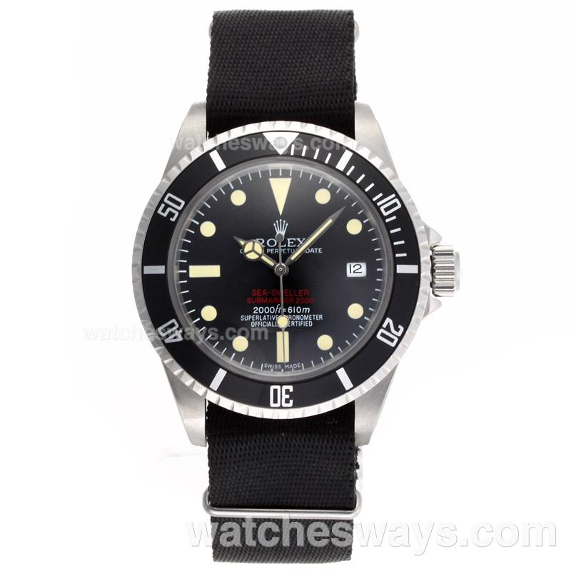 Repliki Rolex Sea Dweller Submariner 2000 Ref.1665 Automatic Vintage Edition-Black Nylon Strap 23286