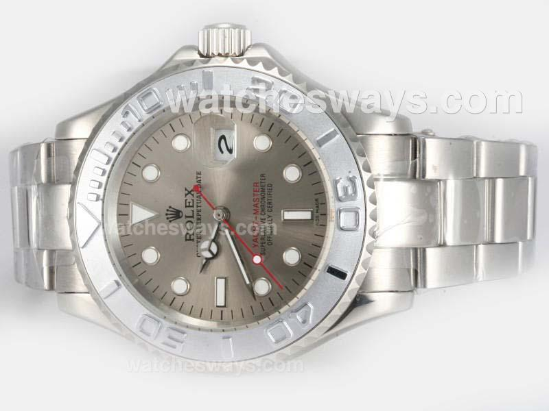 Repliki Rolex Yacht-Master Automatic with Gray Dial S/S 18620