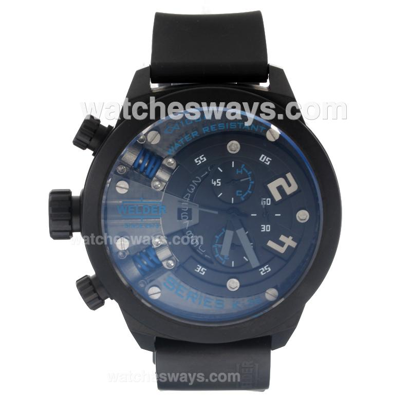 Repliki Welder Working Chronograph PVD Case with Black Dial-Blue Edition 220394