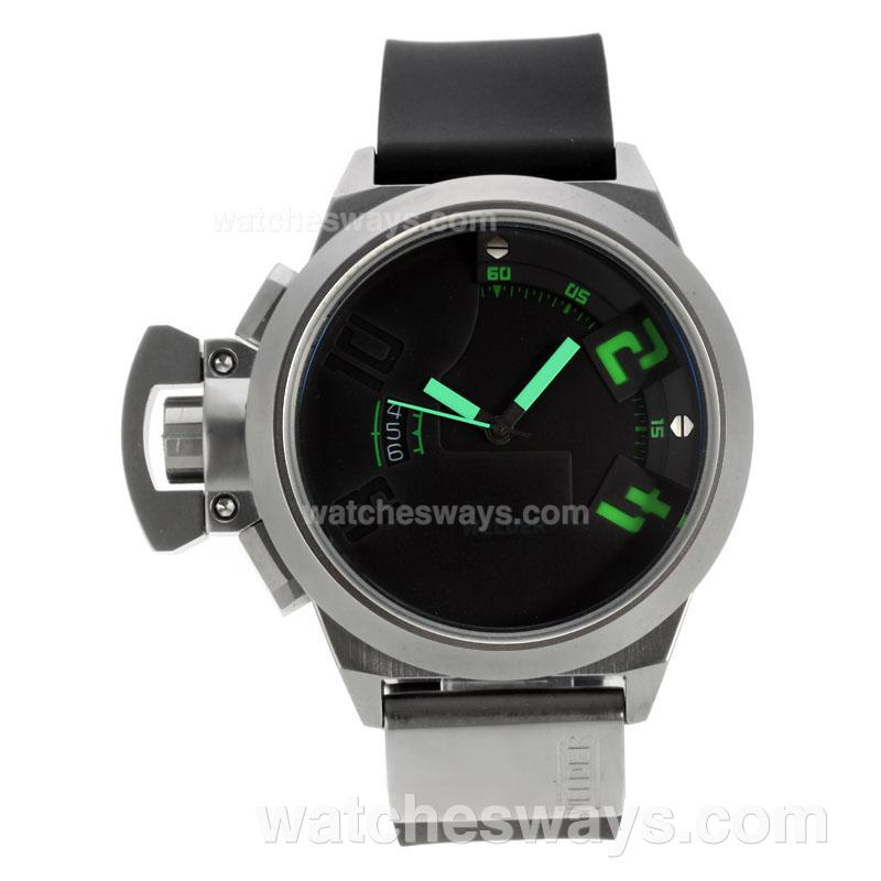 Repliki Welder K24 Automatic Green Needles with Black Dial Rubber Strap-1 122032
