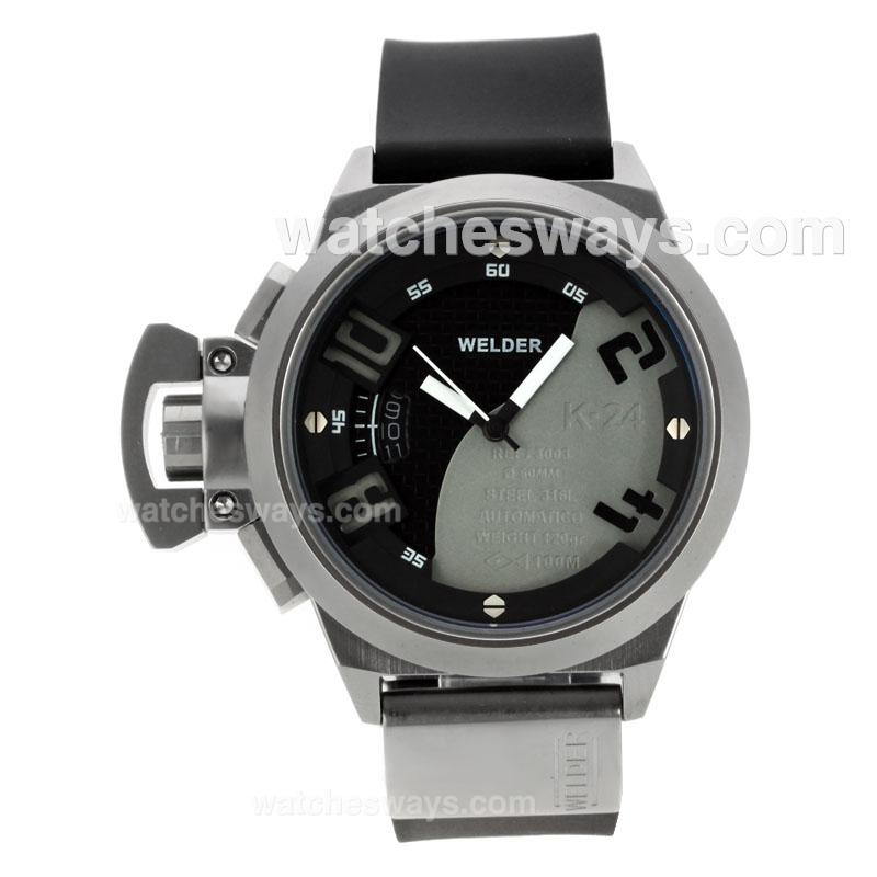 Repliki Welder K24 Automatic with Black/Gray Dial Rubber Strap 122030