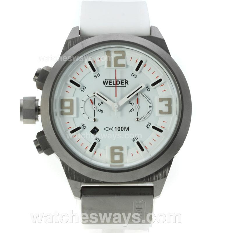 Repliki Welder K31 Working Chronograph with White Dial Rubber Strap 125330