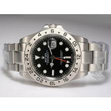Replik Rolex Explorer II Automatic Working GMT mit schwarzem Zifferblatt Upgrade Version - Attraktive Rolex Explorer Uhr für Sie 24230