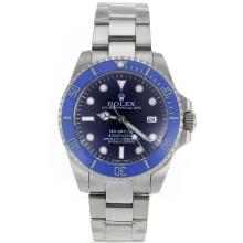 Repliki Rolex Sea-Dweller Automatic with Blue Ceramic Bezel and Dial S/S-Sapphire Glass – Attractive Rolex Sea Dweller Watch for You 24899