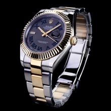 Repliki Rolex Datejust II Automatic Two Tone Green Roman Markers with Gray Dial – Attractive Rolex Datejust II Watch for You 22054