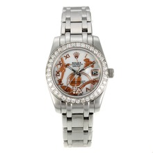 Replik Rolex Masterpiece Automatic Diamond Bezel with White MOP Dial S / S-Blumen Illustration-Medium Size - Attraktive Rolex Masterpiece Uhr für Sie 24446