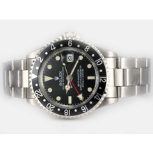 Replik Rolex GMT-Master Automatic Working GMT Black-Vintage Edition - Attraktive Rolex GMT für Sie 24414 Schauen