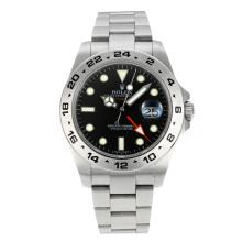 Replik Rolex Explorer II Working GMT Swiss ETA 2836 Bewegung mit Super Luminous Black Dial S / S - Attraktive Rolex Explorer Uhr für Sie 24201
