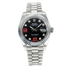 Repliki Rolex DateJust II Automatic Diamond Bezel with Black Dial S/S-Diamond Markers – Attractive Rolex Datejust II Watch for You 22046