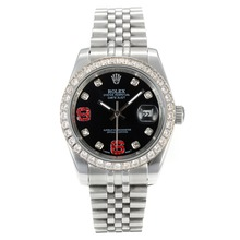 Repliki Rolex DateJust II Automatic Diamond Bezel with Black Dial S/S-Diamond Markers – Attractive Rolex Datejust II Watch for You 22044