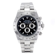 Repliki Rolex Daytona II Automatic with Black Dial SS 24145