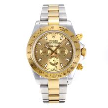 Repliki Rolex Daytona II Automatic Two Tone with Golden Dial 24144