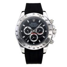 Repliki Rolex Daytona II Automatic with Black Dial-Rubber Strap 24132