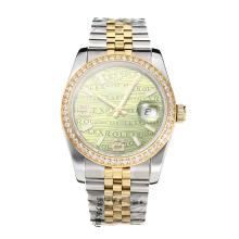 Repliki Rolex Swiss ETA 3135 Movement Two Tone Diamond Bezel with Super Luminous Green Dial-Sapphire Glass – Attractive Rolex Others Watch for You 24860
