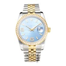 Repliki Rolex Swiss ETA 3135 Movement Two Tone Diamond Bezel with Super Luminous Blue Dial-Sapphire Glass – Attractive Rolex Others Watch for You 24858