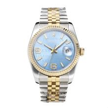 Repliki Rolex Swiss ETA 3135 Movement Two Tone with Super Luminous Blue Dial-Sapphire Glass – Attractive Rolex Others Watch for You 24857