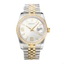 Repliki Rolex Swiss ETA 3135 Movement Two Tone Diamond Bezel with Super Luminous White Dial-Sapphire Glass – Attractive Rolex Others Watch for You 24856
