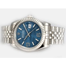 Replik Rolex Datejust Automatic 2008 New Design Insignia Blue Dial - Attraktive Rolex DateJust Armbanduhr für Sie 21865