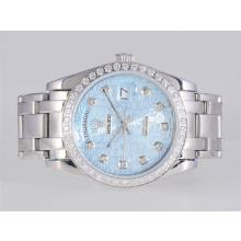 Repliki Rolex Masterpiece Automatic Diamond Marking and Bezel with Blue Computer Dial – Attractive Rolex Masterpiece Watch for You 24683