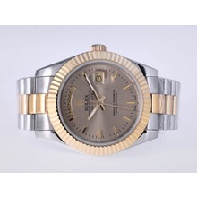 Repliki Rolex Day-Date II Automatic Two Tone with Golden Dial-41mm New Version – Attractive Rolex Day Date II Watch for You 23005