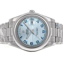 Repliki Rolex Date Date II Automatic with Blue Dial S/S -Arabic Marking – Attractive Rolex Day Date II Watch for You 22976