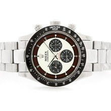 Repliki Rolex Daytona Cosmograph Working Chronograph with White Dial S/S-Vintage Edition – Attractive Rolex Daytona Watch for You 23752