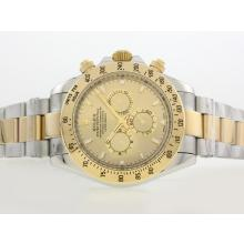 Replik Rolex Daytona II Automatic YG / SS Two Tone mit Golden Dial / Stick Marking-42mm Version 24188