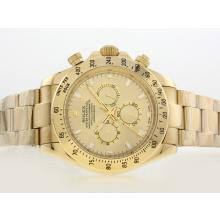 Replik Rolex Daytona II Automatic Full Gold mit goldenem Zifferblatt / Stick Marking-42mm Version 24187