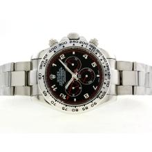 Repliki Rolex Daytona II Automatic with Black Dial-Number Marking 42mm Version 24183
