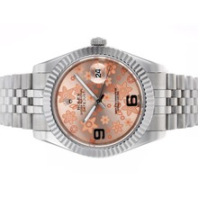 Repliki Rolex Datejust II Automatic Movement with Pink Floral Motif Dial – Attractive Rolex Datejust II Watch for You 22224