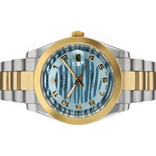 Repliki Rolex Datejust II Automatic Two Tone Number Markers with Blue Wave Dial – Attractive Rolex Datejust II Watch for You 22193
