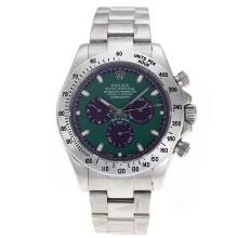 Replik Rolex Daytona II Automatic mit Green Dial S / S-Oversized Version 24181