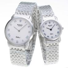 Repliki Rolex Roman Markers with White Dial S/S-Couple Watch – Attractive Rolex Others Watch for You 24885