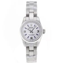 Replik Rolex Air-King Swiss ETA 2671 Uhrwerk mit White Dial S / S-Lady Size - Attraktive Rolex Air King für Sie 20007 Schauen